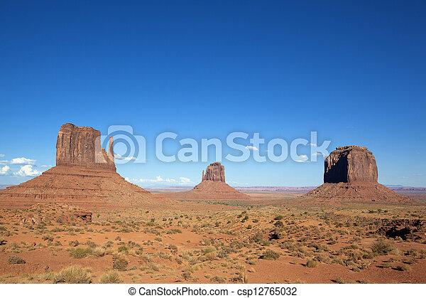 famous landscape of Monument Valley - csp12765032