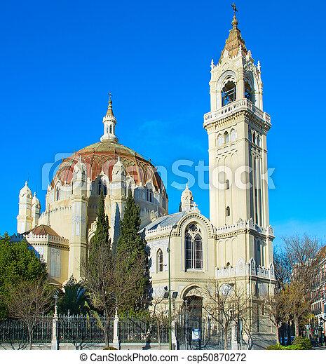 Famous Madrid church, Spain - csp50870272