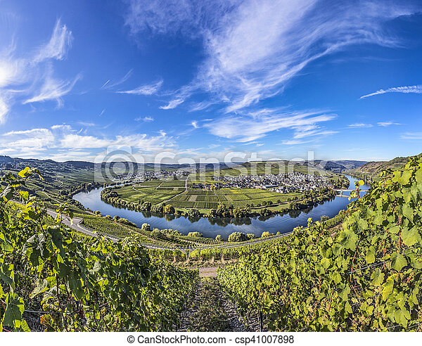 Famous Moselle river loop in Trittenheim - csp41007898
