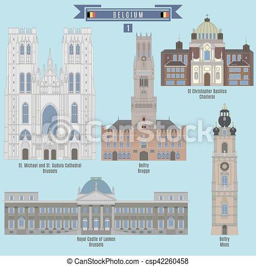 Famous Places in Belgium - csp42260458