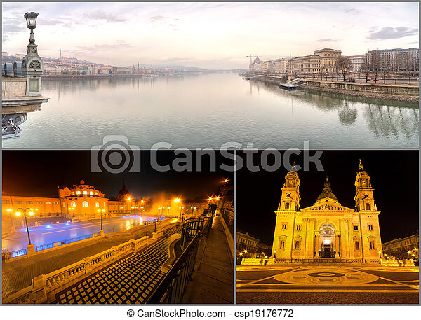 Famous Places in Budapest, Hungary - csp19176772