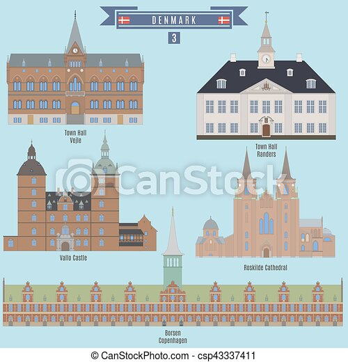 Famous Places in Denmark - csp43337411