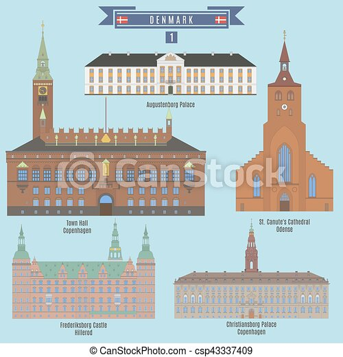 Famous Places in Denmark - csp43337409