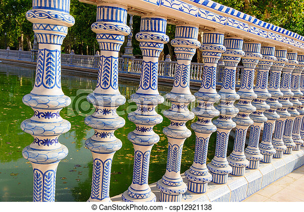 Famous Plaza de Espana, Sevilla, Spain - csp12921138