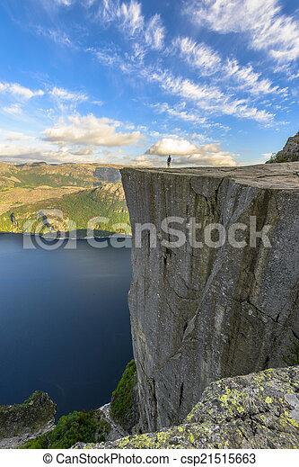 Famous Pulpit Rock in Norway - csp21515663