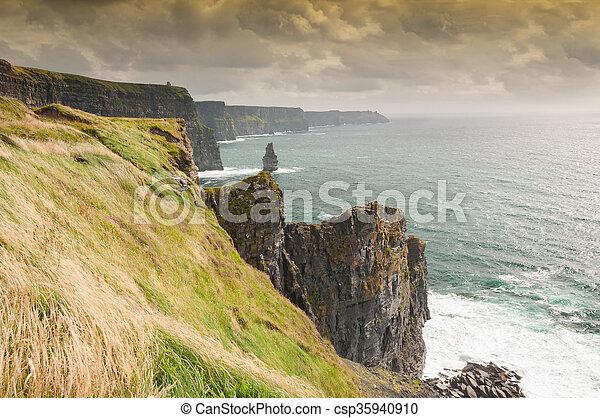 Famous Scenic Cliffs Of Moher, WildAtlanticWay, County Clare, Ireland  - csp35940910