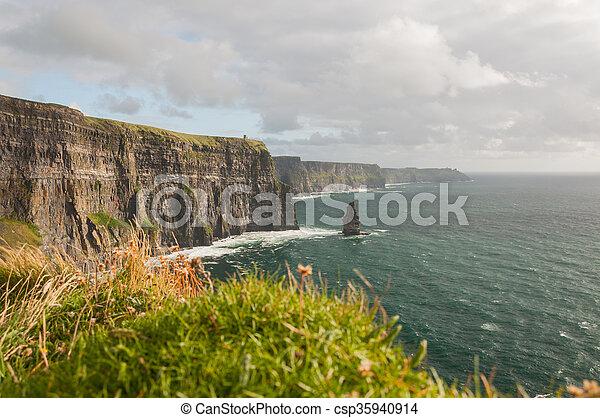 Famous Scenic Cliffs Of Moher, WildAtlanticWay, County Clare, Ireland  - csp35940914