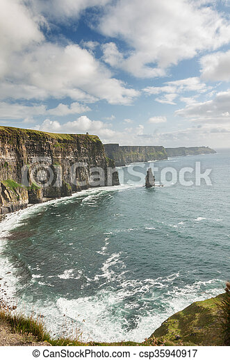 Famous Scenic Cliffs Of Moher, WildAtlanticWay, County Clare, Ireland  - csp35940917