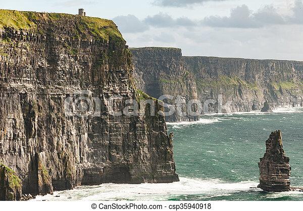 Famous Scenic Cliffs Of Moher, WildAtlanticWay, County Clare, Ireland  - csp35940918
