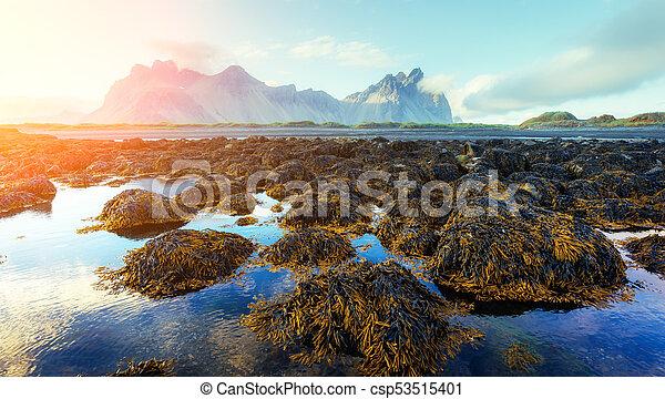 Famous Stokksnes mountains - csp53515401
