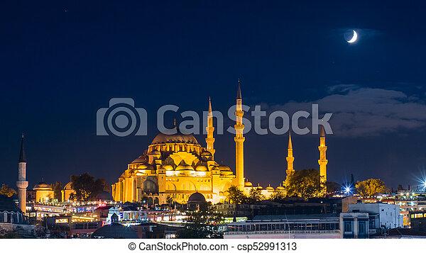 Suleymaniye Mosque Night