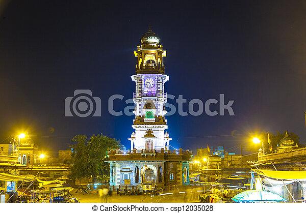 famous victorian clock tower in Jodhpur - csp12035028