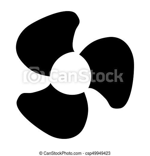 Fan blades black color icon . - csp49949423