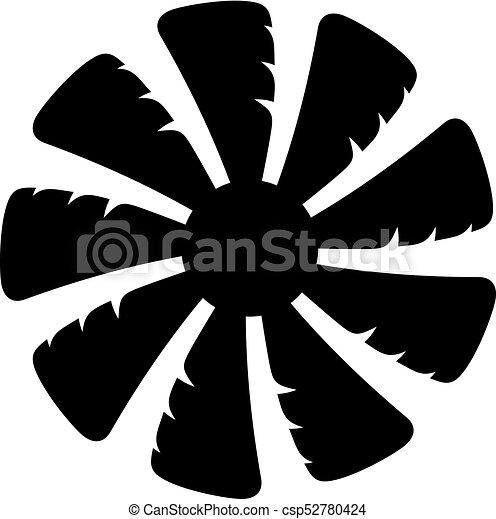 Fan blades icon - csp52780424