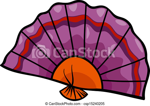 fan clip art cartoon illustration - csp15240205