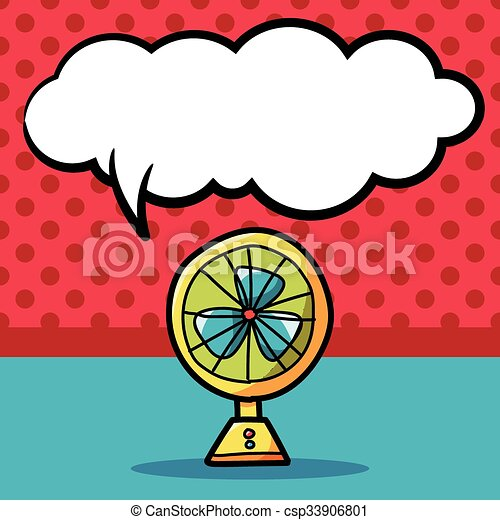 fan color doodle - csp33906801