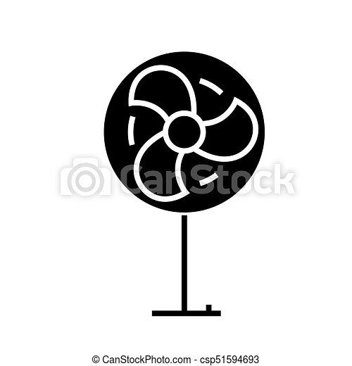 fan icon, vector illustration, black sign on isolated background - csp51594693