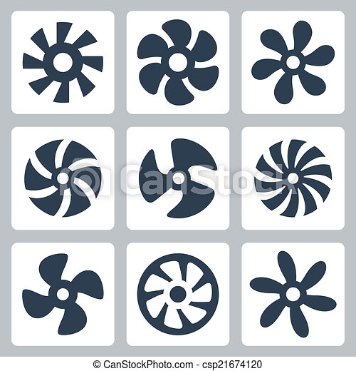 Fan propellers vector icons set - csp21674120