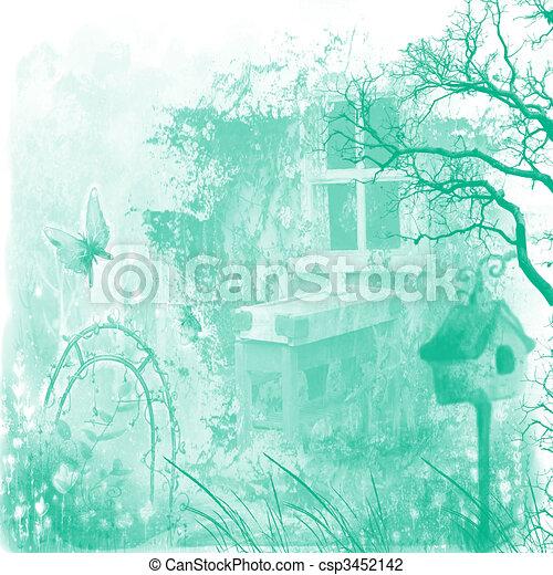 Fanasy Cottage Grunge Fantasy Clip Art