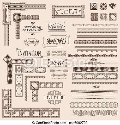 Fancy border elements for menus and invitations vector illustration fancy border elements csp6092792 stopboris Gallery