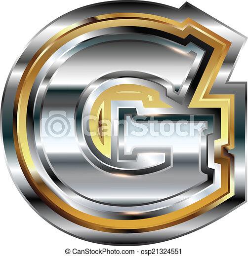 fancy font letter g csp21324551