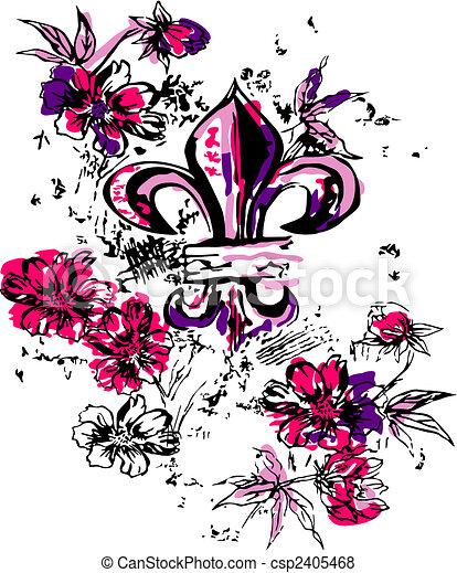 fancy heraldic royalty illustration - csp2405468