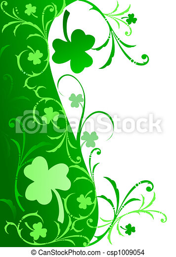 Fancy shamrock border fancy border with shamrocks and swirls in fancy shamrock border csp1009054 thecheapjerseys Image collections