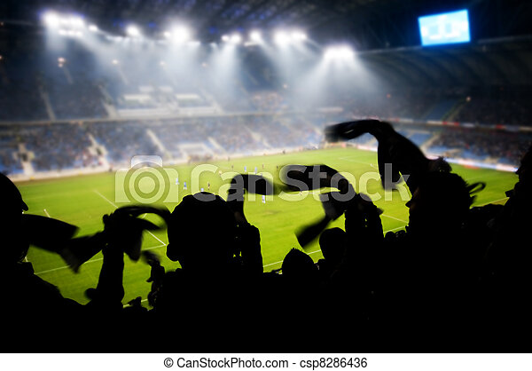 Fans celebrating goal - csp8286436