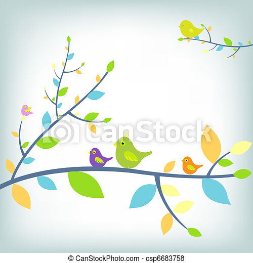 Pájaros fantásticos - csp6683758