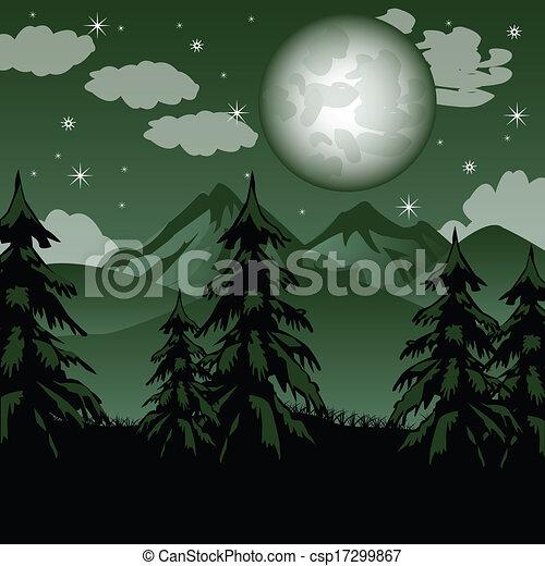 Fantástico paisaje de montaña - csp17299867