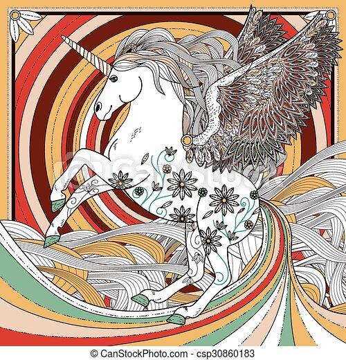 Unicornio fantástico - csp30860183