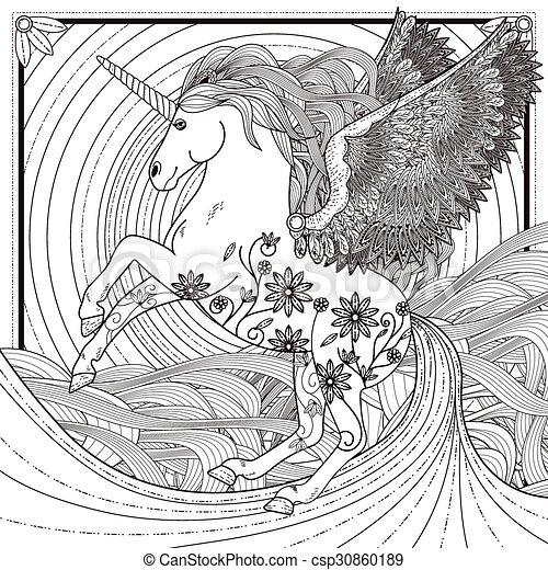 Unicornio fantástico - csp30860189