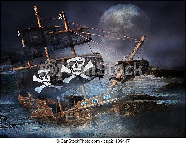 Fant me bateau pirate fant me entiers grand chou - Photo de bateau pirate ...