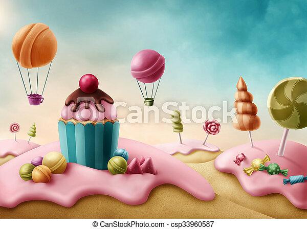 Fantasía dulcelandia - csp33960587