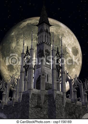 fantasía, castillo - csp1156169