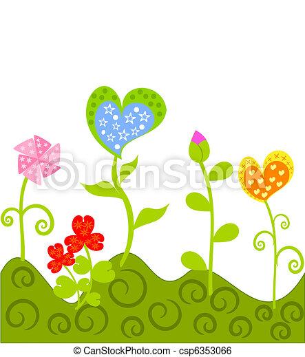 fantasía, flores - csp6353066