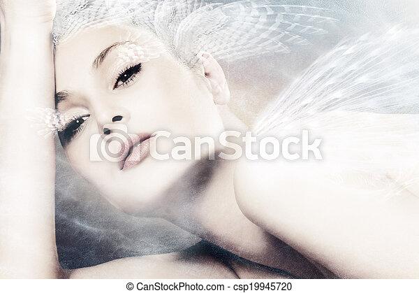 fantasía, mujer - csp19945720