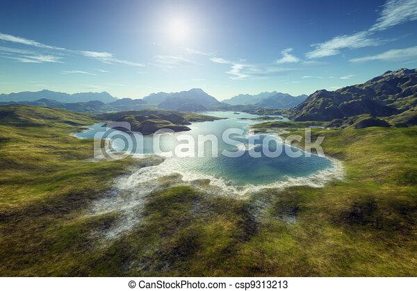 Un paisaje de fantasía - csp9313213