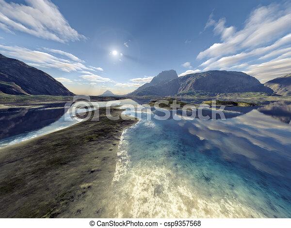 Un paisaje fantástico - csp9357568