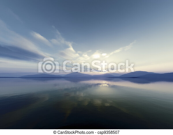 Un paisaje fantástico - csp9358507