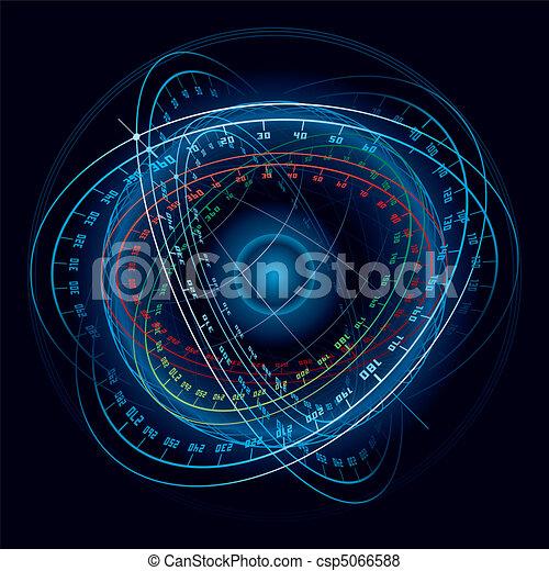 Fantasía de la esfera de navegación espacial. - csp5066588