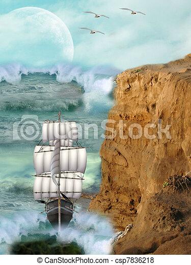 fantasi, landskap - csp7836218