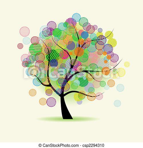 fantasia, arte, albero - csp2294310