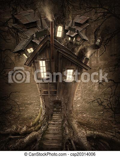 fantasia, casa albero - csp20314006