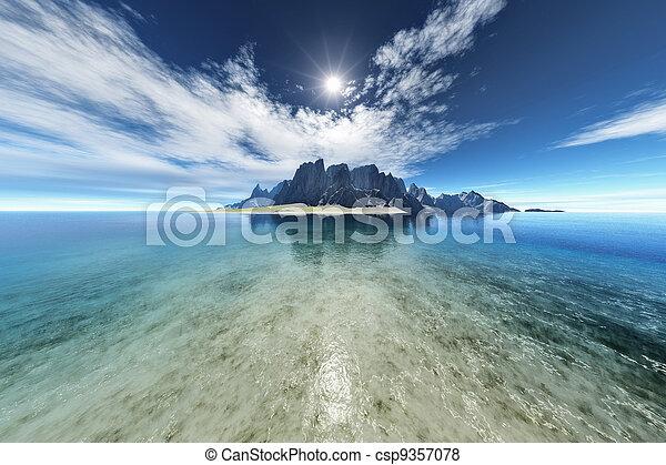 fantasia, ilha - csp9357078