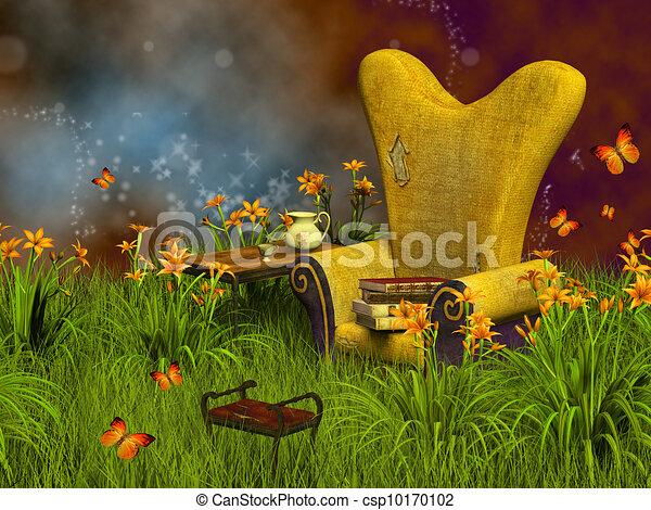 fantasia, lettura, posto - csp10170102