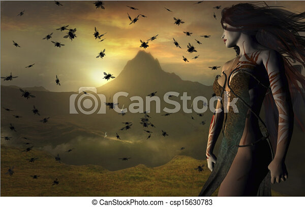 fantasia, paisagem - csp15630783