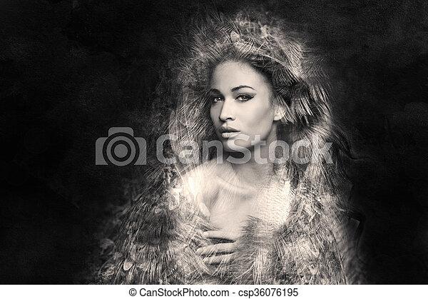 fantasia, ritratto donna - csp36076195