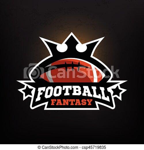fantasie, amerikanische , fußball, logo. - csp45719835