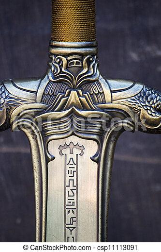 fantasie, detail, zwaard - csp11113091
